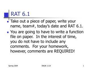 RAT 6.1