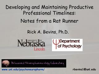 Developing and Maintaining Productive Professional Timelines: Notes from a Rat Runner