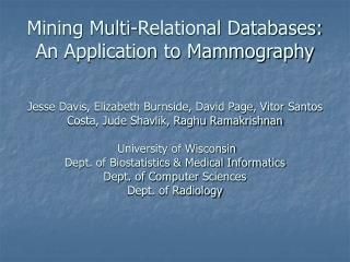 Application: Mammography