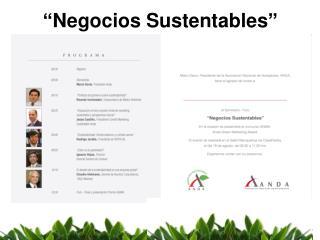 """""""Negocios Sustentables"""""""