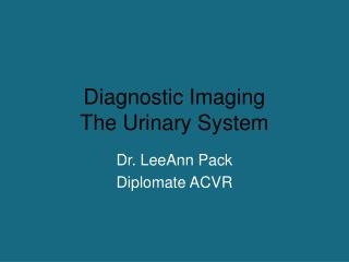 Diagnostic Imaging The Urinary System