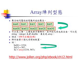 Array 陣列型態