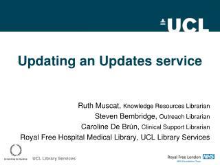Updating an Updates service