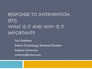 Response to Intervention (RTI): What is it and Why is it Important?