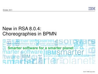 New in RSA 8.0.4: Choreographies in BPMN