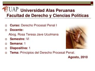 Universidad Alas Peruanas Facultad de Derecho y Ciencias Políticas