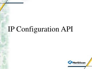 IP Configuration API