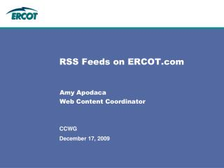 RSS Feeds on ERCOT