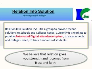 Relation Info Solution