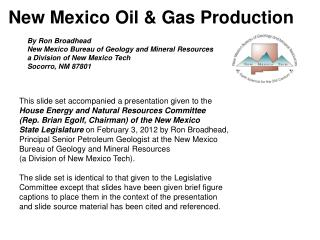 New Mexico Oil & Gas Production