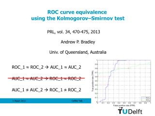 ROC curve equivalence  using the Kolmogorov–Smirnov test