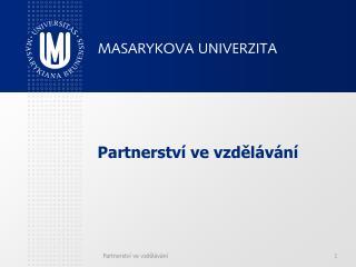 Partnerství ve vzdělávání