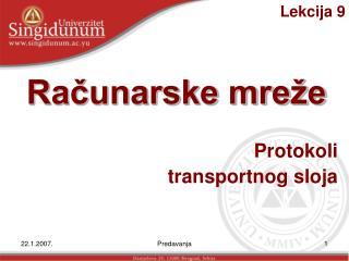 Protokoli transportnog sloja