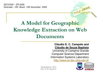 A Model for Geographic Knowledge Extraction on Web Documents