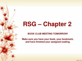 RSG – Chapter 2