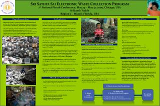  Sri  Sathya Sai  Electronic Waste Collection Program