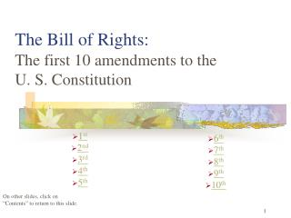The Bill of Rights: