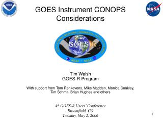 GOES Instrument CONOPS  Considerations