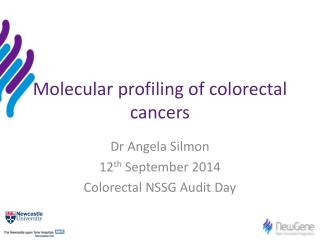 Molecular profiling of colorectal cancers