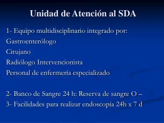 Unidad de Atención al SDA