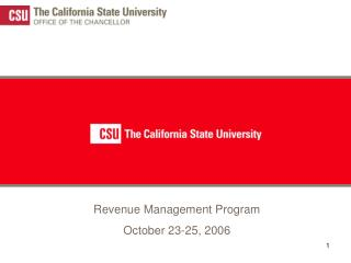 Revenue Management Program  October 23-25, 2006