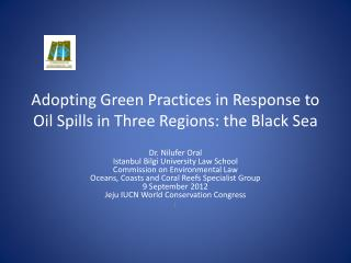 Adopting Green Practices in Response to Oil Spills in Three Regions: the Black Sea