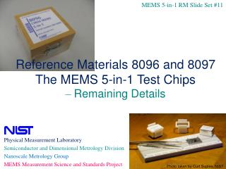 Physical Measurement Laboratory  Semiconductor and Dimensional Metrology Division
