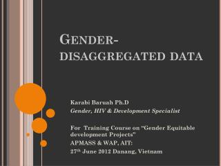 Gender-disaggregated  data