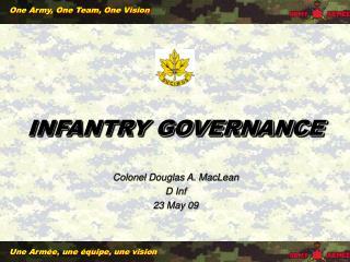 INFANTRY GOVERNANCE