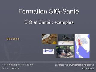 Formation SIG-Santé