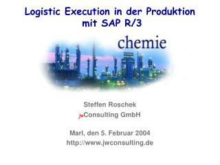 Logistic Execution in der Produktion  mit SAP R