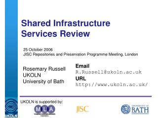 Shared Infrastructure Services Review