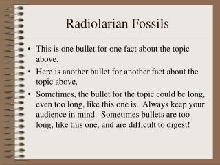 Radiolarian Fossils