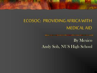 ECOSOC:	PROVIDING AFRICA WITH MEDICAL AID