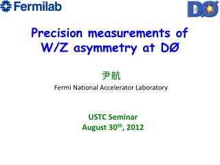 P recision measurements of  W/Z asymmetry at DØ