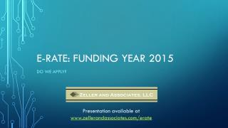 e-Rate: Funding Year 2015