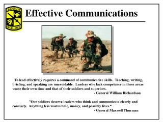 Effective Communications