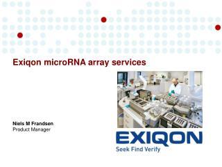 Exiqon microRNA array services