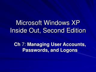 Microsoft Windows XP Inside Out, Second Edition