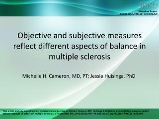 Objective and subjective measures reflect different aspects of balance in multiple sclerosis