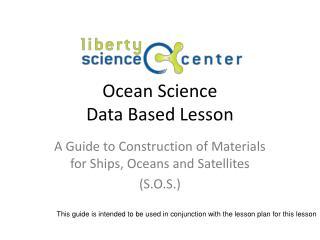 Ocean Science Data Based Lesson