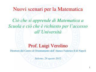 Nuovi scenari per la Matematica