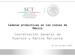 Cadenas productivas en las costas de México