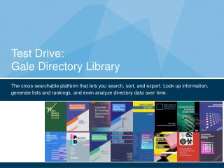 Test Drive: Gale Directory Library