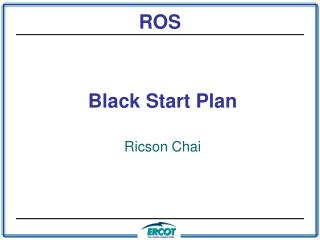 Black Start Plan