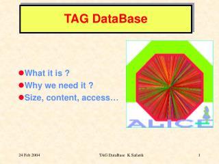 TAG DataBase