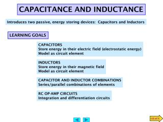 CAPACITANCE AND INDUCTANCE