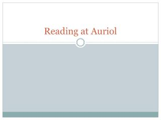Reading at Auriol