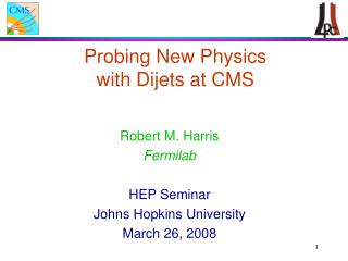 Probing New Physics  with Dijets at CMS