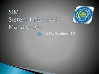SIM  Sistem Informasi Manajemen